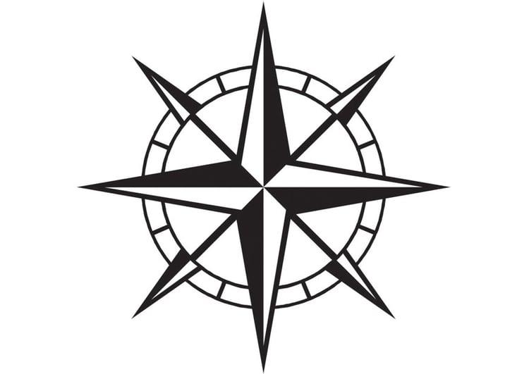 Disegno da colorare bussola cat 16436 for Atlante compass