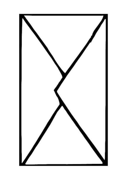 Disegno Da Colorare Busta Da Lettera Cat 9887