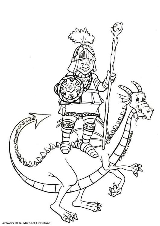 Disegno Da Colorare Cacciatore Di Draghi Cat 12271
