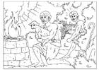 Disegno da colorare Caino e Abele