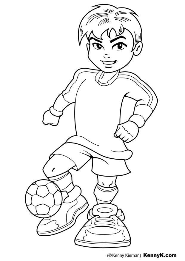 Disegno da colorare calciatore cat 20110 images for Disegni calciatori da colorare per bambini