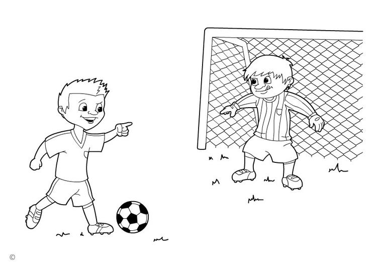 Disegno Da Colorare Calcio Di Rigore Cat 26137
