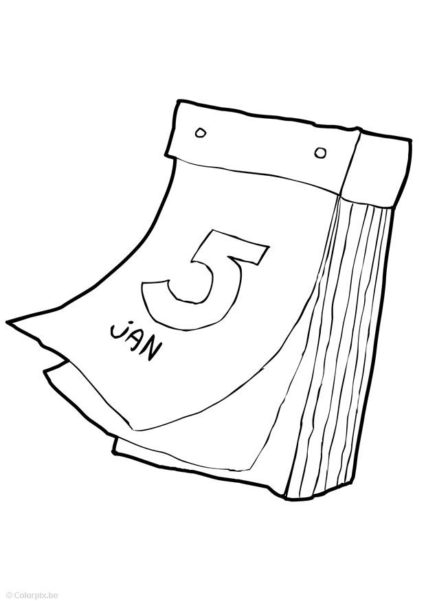 Disegno Da Colorare Calendario Cat 14747