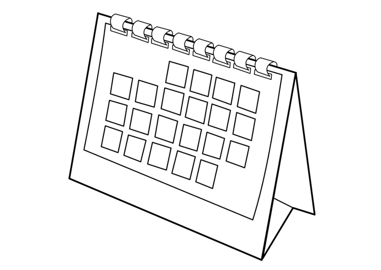 Calendario Da Colorare.Disegno Da Colorare Calendario Disegni Da Colorare E Stampare Gratis
