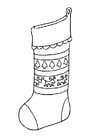 Disegno da colorare calza di Natale