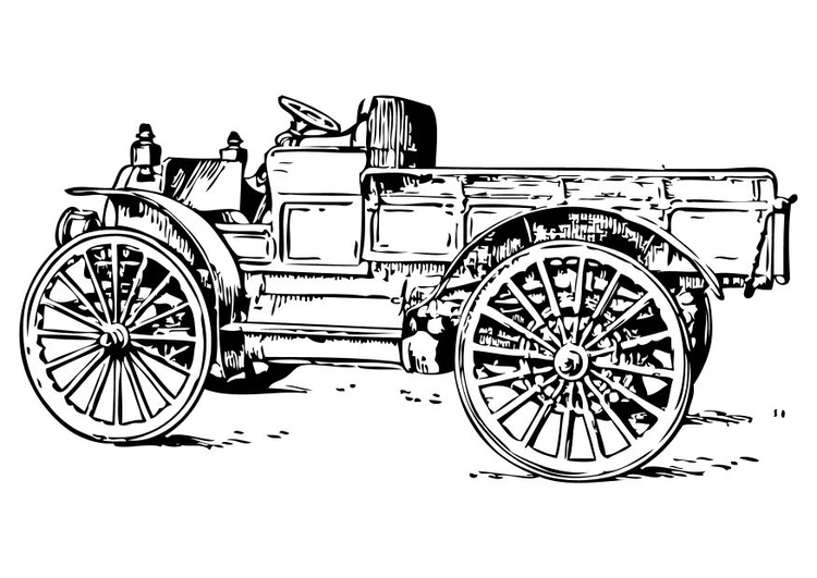 Disegno Da Colorare Camion Antico Cat 18774