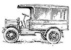 Disegno da colorare camion antico