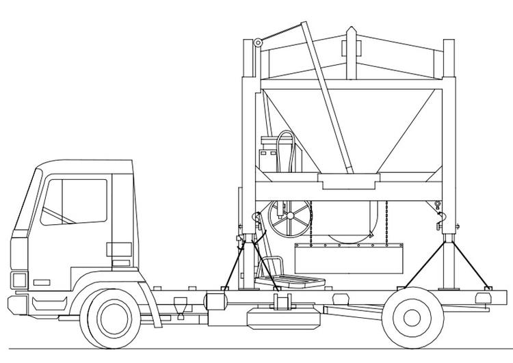 disegno da colorare camion  camion sabbia  disegni da