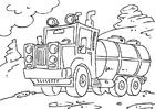 Disegno da colorare camion cisterna