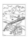 Disegno da colorare camion dei pompieri