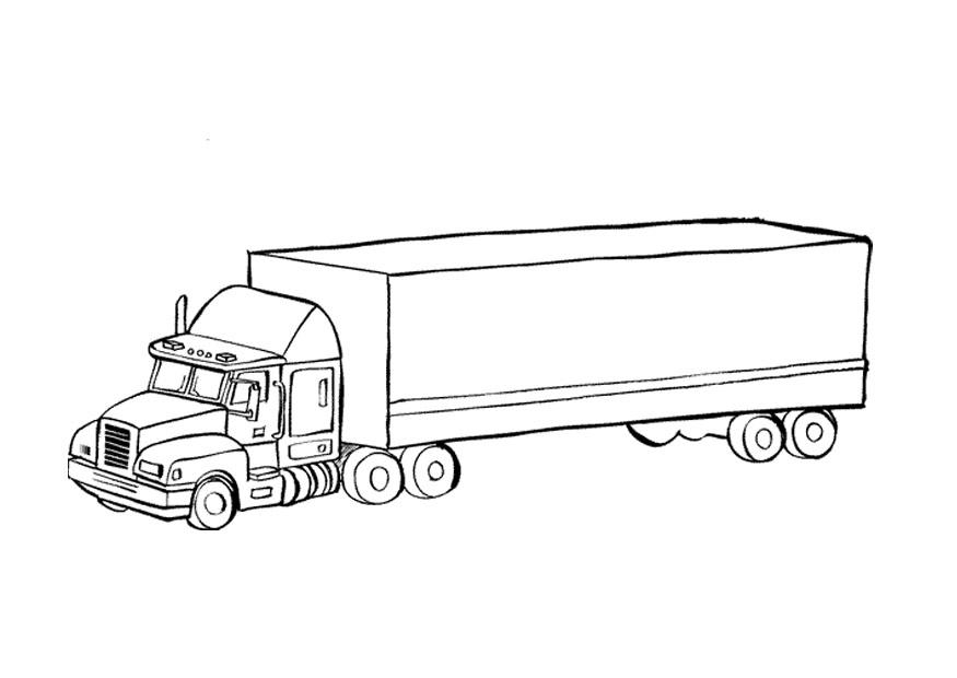 Disegno Da Colorare Camion Cat 9674