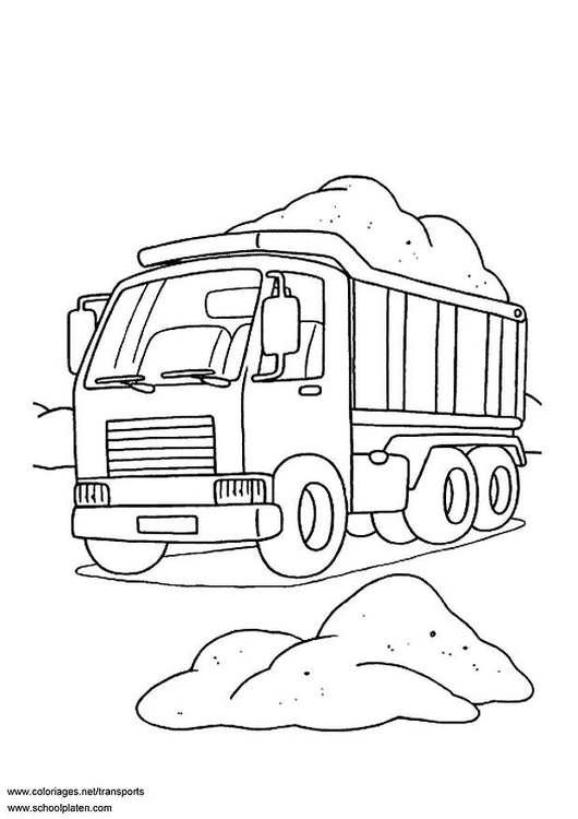 Kleurplaat Printen Vrachtwagen Disegno Da Colorare Camion Cat 3099