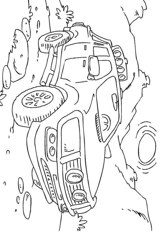 disegno da colorare camion pick up