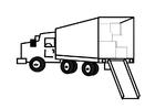 Disegno da colorare camion pieno