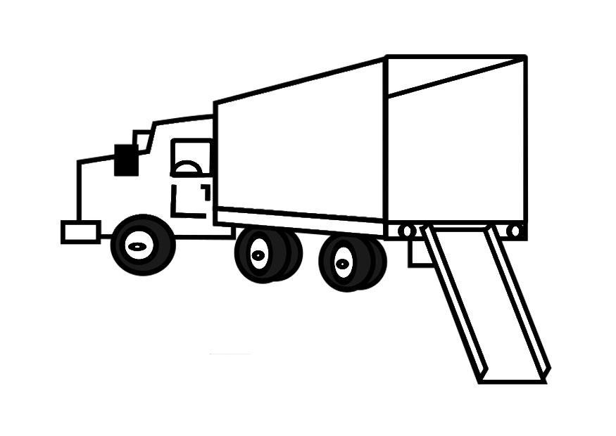 Verhuizen Kleurplaat Disegno Da Colorare Camion Vuoto Cat 29164