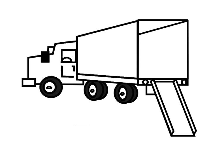 Disegno Da Colorare Camion Vuoto Cat 29164