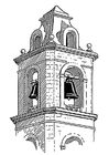 Disegno da colorare campana - Belfort