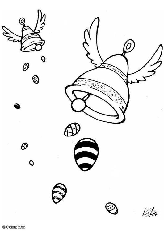 Disegno Da Colorare Campane A Pasqua Cat 5726