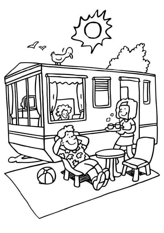 Disegno da colorare campeggio - Disegni Da Colorare E