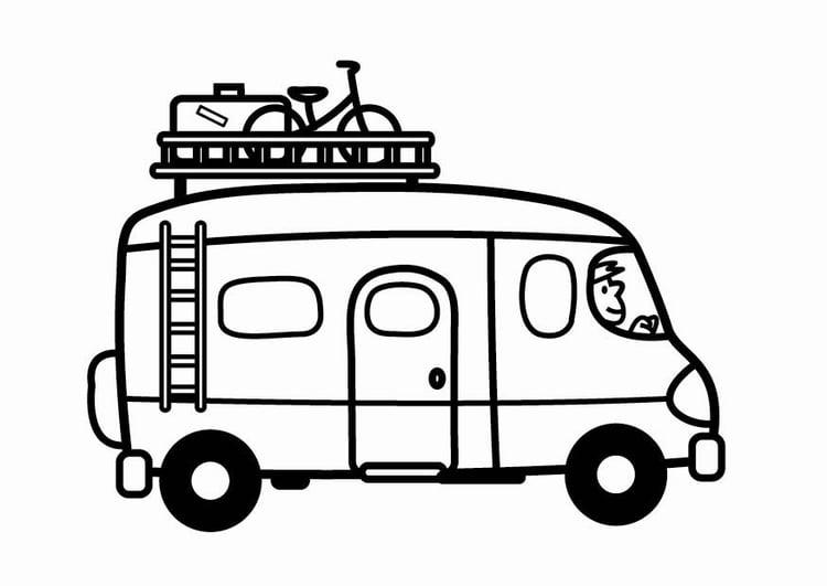 Disegno Da Colorare Camper Cat 24121
