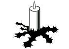 Disegno da colorare candela