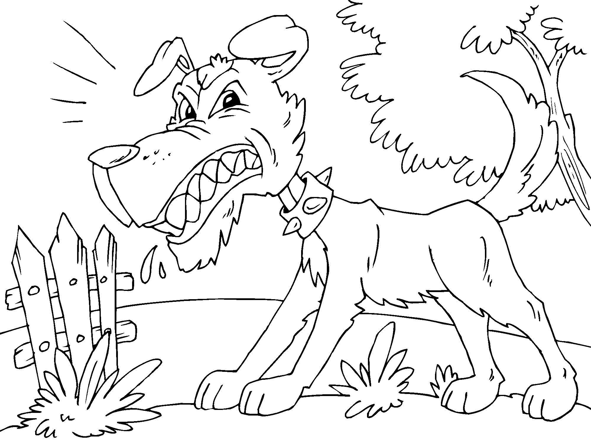 Disegno da colorare cane arrabbiato cat 22679 for Cane disegno da colorare