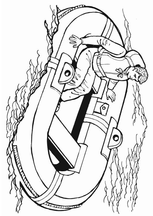 Disegno Da Colorare Canotto Di Salvataggio Cat 13221