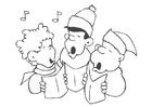 Disegno da colorare canzone di Natale