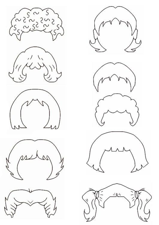 Disegno da colorare capelli