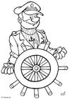 Disegno da colorare capitano