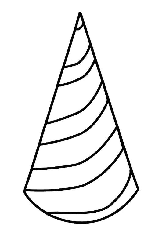 Disegno da colorare cappellino da festa cat 19411 for Disegno pesciolino da colorare