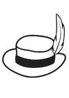 Disegno da colorare cappello con piuma
