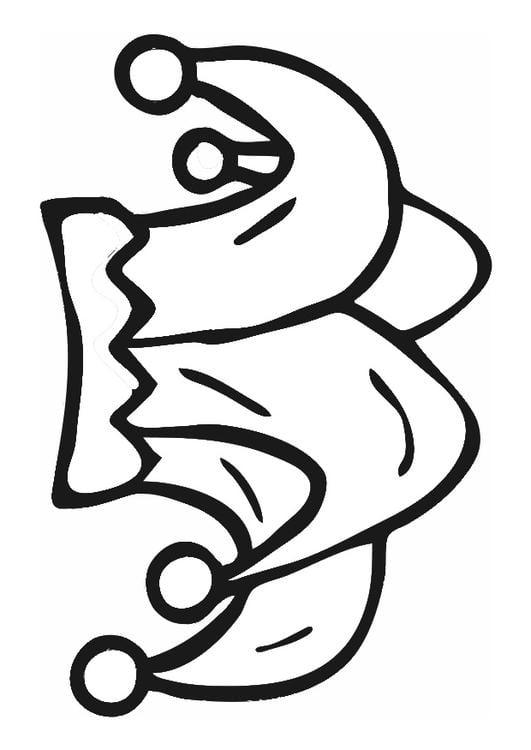 Disegno da colorare cappello da giullare cat 29559 for Giullare da colorare