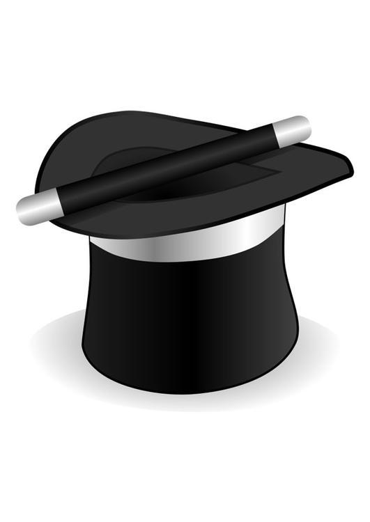 Disegno da colorare cappello del mago cat 22581 for Cappello disegno da colorare