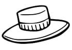 Disegno da colorare cappello