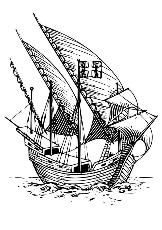 Disegno Da Colorare Caravella Cat 18583