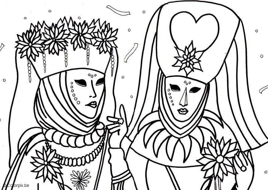 Disegno da colorare carnavale a venezia cat 5661 - Dessins de carnaval ...
