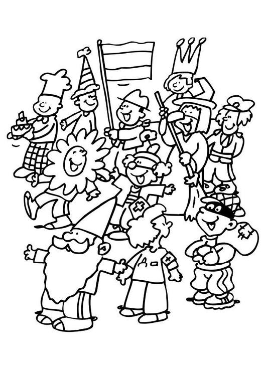 Disegno Da Colorare Carnevale Cat 6487