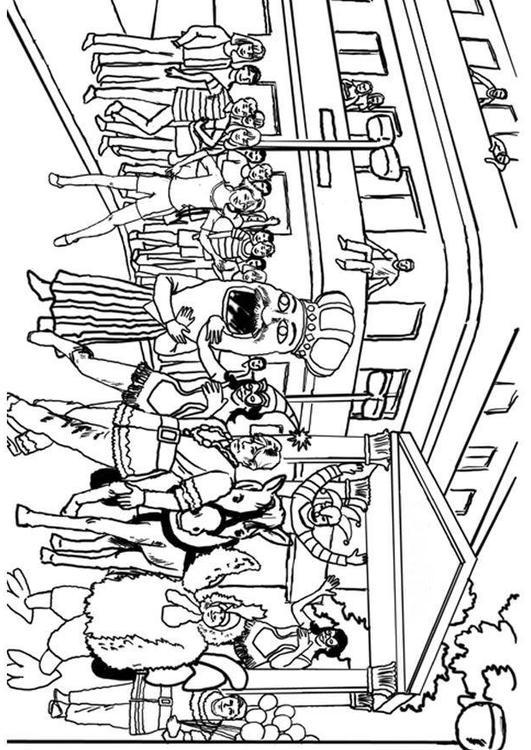Disegno Da Colorare Carnevale Cat 8041