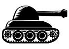 Disegno da colorare carro armato
