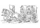 Disegno da colorare Carrozza del 15esimo secolo