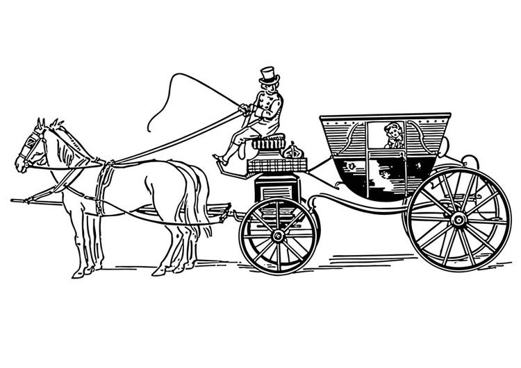 Disegni Da Colorare Cavalli Con Carrozza.Disegno Da Colorare Carrozza Disegni Da Colorare E Stampare Gratis