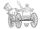 Disegno da colorare carrozza
