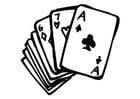 Disegno da colorare carte da gioco