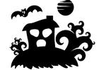 Disegno da colorare casa dei fantasmi