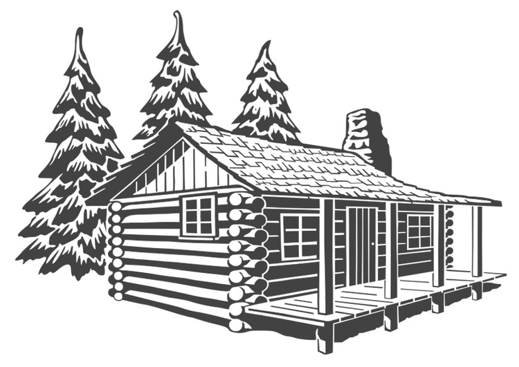 Disegno da colorare casa di legno cat 27209 for Disegni di case spagnole