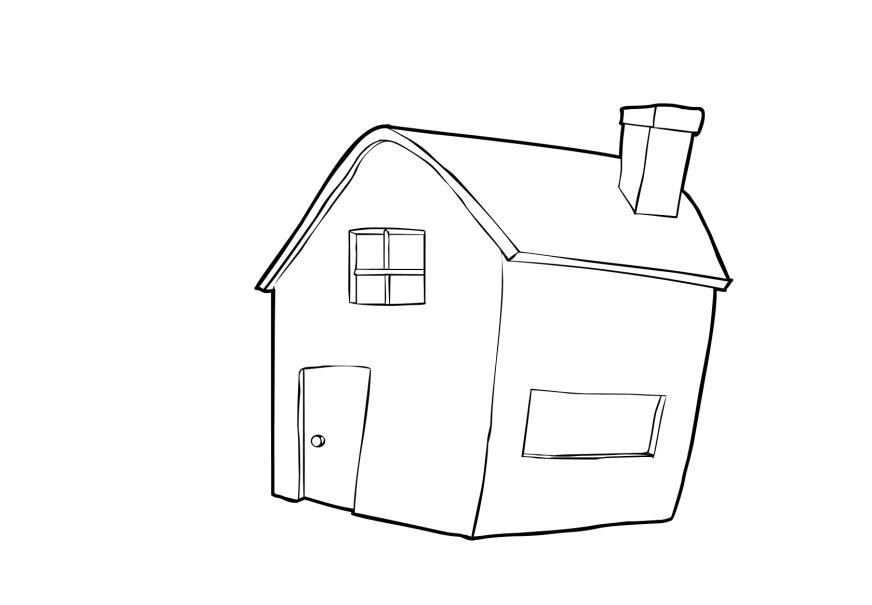 Disegno da colorare casa cat 13739 images for Disegni di casa da stampare