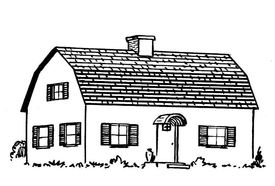 Disegno da colorare casa cat 15947 for Casa disegno
