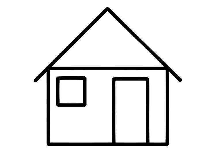 Disegno da colorare casa cat 11324 for Casa disegno