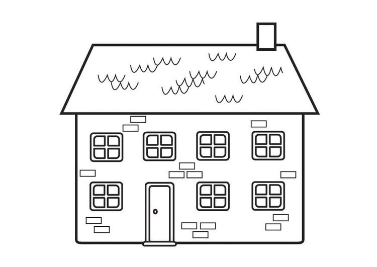 disegno da colorare casa  cat 23129